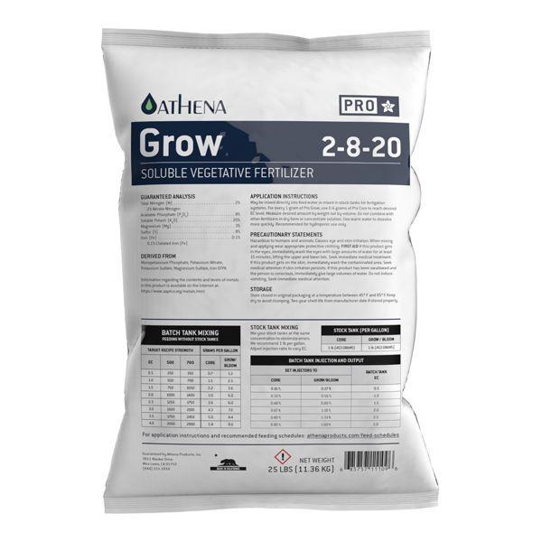 Athena Pro Grow 25lb Fertilizer Bag