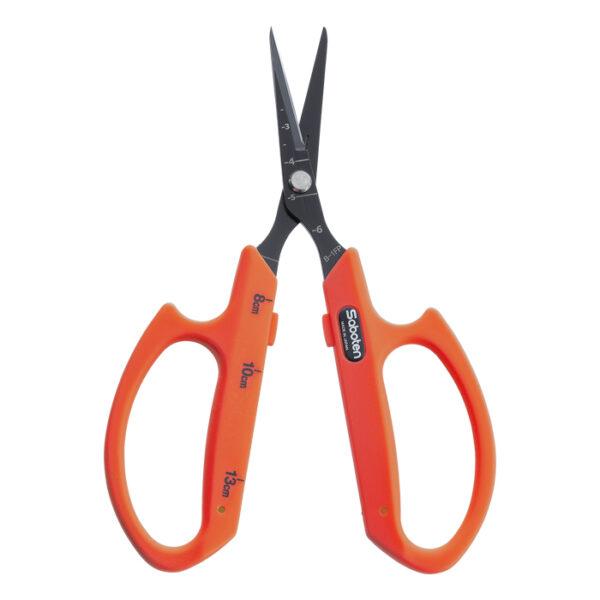 Saboten Straight Blade Trimming Shears Scissors Orange